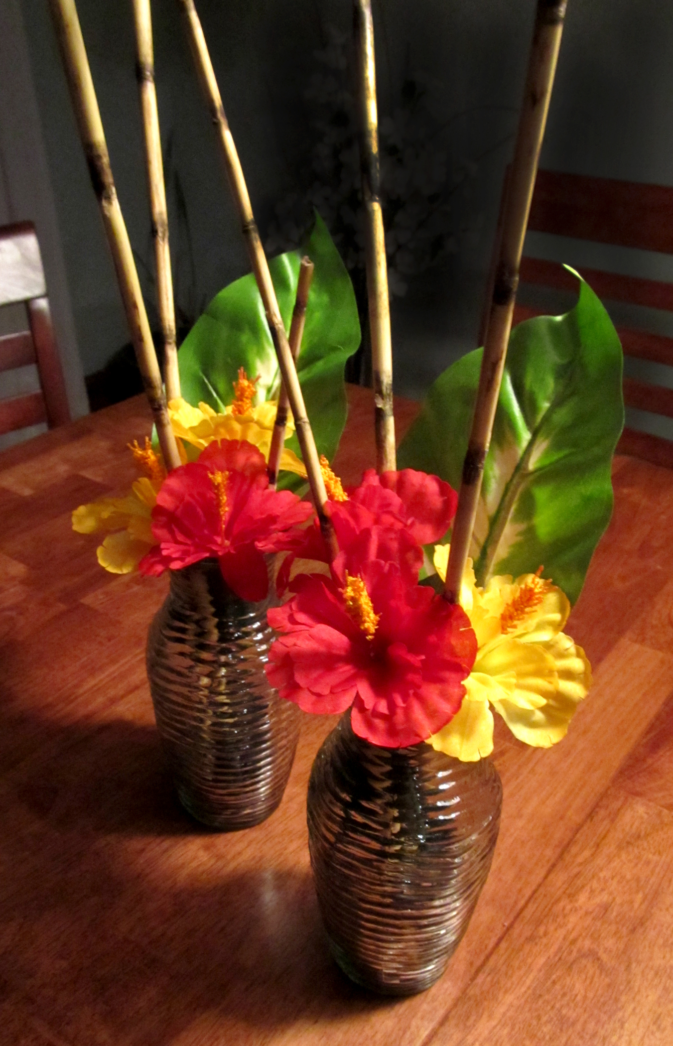 Tropical centerpiece swankee yankee