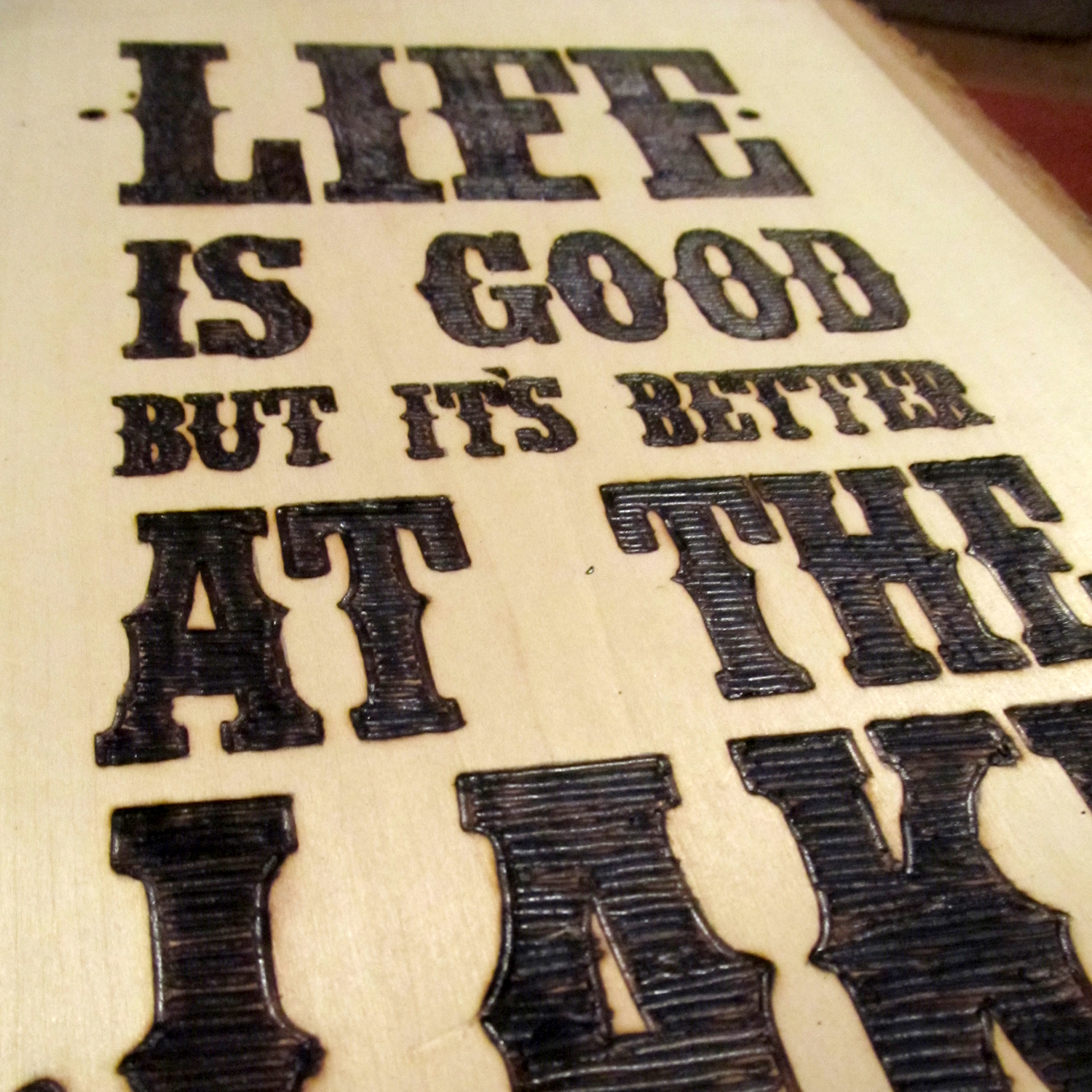 DIY: Wood-burned Sign | Swankee Yankee